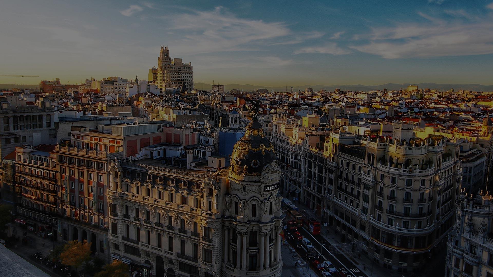 Vista panorámica de Madrid desde el Paseo de la Castellana